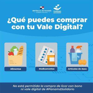 Qué puedes comprar con el vale digital-Vamos Panamá