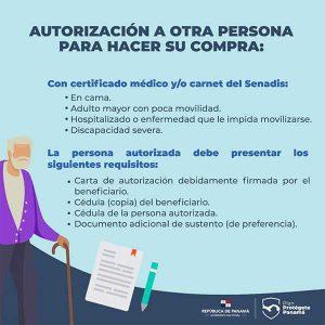 Requisitos para autorizar a otra persona para cambiar el vale digital-Vamos Panamá